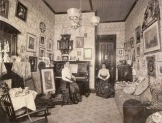 All sizes | Vintage Interior With Two Women, Possibly Twins | Flickr - Photo Sharing!