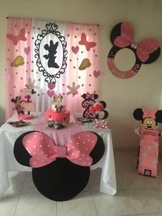 63 Super Ideas For Birthday Decorations Baby Girl Minnie Mouse Decoration Minnie, Minnie Mouse Birthday Decorations, Minnie Mouse Theme Party, Minnie Mouse 1st Birthday, Minnie Mouse Baby Shower, Minnie Mouse Pink, Mickey Party, Birthday Party Themes, Elmo Party