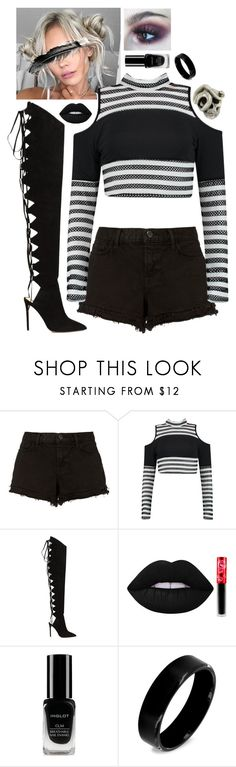 """""""#925"""" by actuallyakitten ❤ liked on Polyvore featuring J Brand, Alexandre Vauthier, Lime Crime, Inglot, West Coast Jewelry and Macabre Gadgets"""