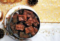 #Brownies au #chocolat et au #caramel croquant