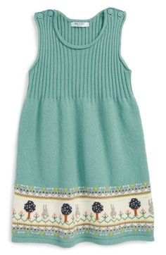 Free shipping and returns on Mini Boden Intarsia Knit Sleeveless Dress (Baby Girls & Toddler Girls) at Nordstrom.com. Woodland-themed intarsia-knit patterns at the hemline add a delightful touch to a sleeveless dress knit from a soft cotton blend.