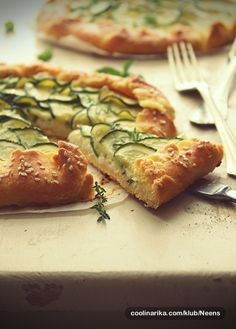 zucchini and cheese galette