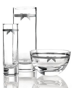 Macy's - kate spade new york Crystal Gifts, Grace Avenue Collection - Bowls & Vases - for the home - Macys Bridal and Wedding Registry Vase Deco, Dining Ware, Wedding Gift Registry, Kate Spade Handbags, Crystal Gifts, Crystal Collection, Household Items, Decoration, Tableware