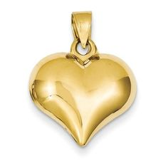 NEW-SOLID-14K-YELLOW-GOLD-HOLLOW-PUFFED-HEART-CHARM-PENDANT-FOR-NECKLACE-1-26g