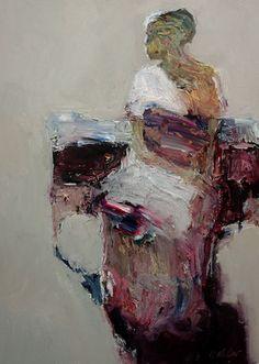 Seated Figure by Dan McCaw, 24 x oil painting. Abstract Portrait, Portrait Art, Modern Art, Contemporary Art, Gauguin, Art For Art Sake, People Art, Old Art, Art Portfolio