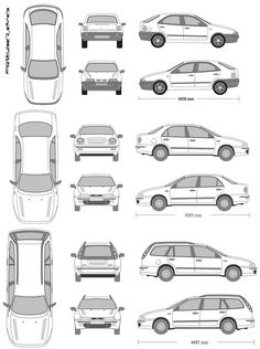 An infographic of Fiat Marea