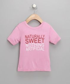 Take a look at this Pink 'Naturally Sweet' Organic Tee by Small Plum on #zulily today!
