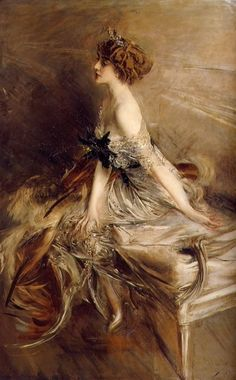 This is Portrait of Princess Marthe Bibesco by Giovanni Boldini. One of my favorite Boldini pieces. It's dated circa 1911.