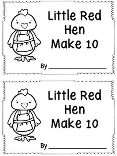 Students can count on these ten frames to determine how many more loaves of bread are needed to make Put the pages in any order you wish. There are two books on a page making it easy peasy to run through the copy machine with a staple on the left side. Preschool Lessons, Preschool Math, Kindergarten Math, Teaching Math, Elementary Math, Maths, Little Red Hen Activities, The Little Red Hen Preschool, Starting A Daycare