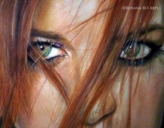 Drawing: Self-portrait By : Roxana Barahona Oliva https://www.facebook.com/roxanaboarts #makeup #drawing #art #portrait #retrato #arte #pencil #eyes #hiperrealismo