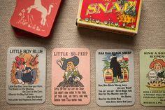 Retro Nursery Rhyme Snap Cards - Wedding in a Teacup