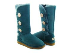 Long blue buttoned uggs