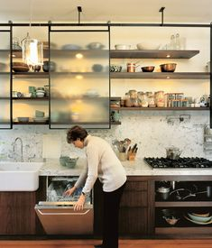 A couple's dinner out at their neighborhood bistro provides just the right impetus for their restaurant-inspired kitchen renovation. The ...