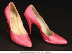 Marilyn's Ferragamo heels in pink. He designed the style for her