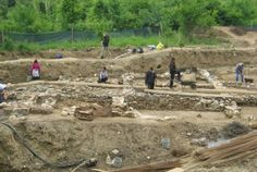 A Late Antiquity Roman Age building has been found during construction works in the southwestern Bulgarian town of Sapareva Banya. Photo: Darik-Kyustendil