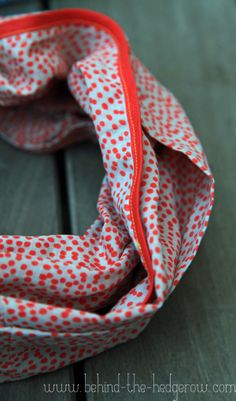sew: Bias-Trimmed Circle Scarf Tutorial || Behind the Hedgerow
