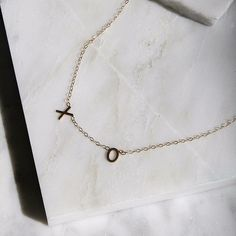 XO Initial Necklace