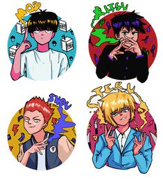 mob psycho boys (speedpaint) ONE's webcomic begun it is magazine about Apr on Manga Anime, Anime Art, Tokyo Ghoul, Jojo's Bizarre Adventure, Mob Psycho 100 Anime, Mob Physco 100, Demon Slayer, Kageyama, One Punch Man