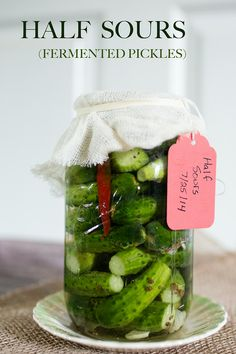 Half Sours (Fermented Pickles)!