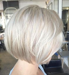50 Best Short Haircuts and Hairstyles for Fine Hair - Hair Adviser - Best Haircuts and Hairstyles for Women in 2019 Bob Haircut For Fine Hair, Blonde Bob Haircut, Fine Curly Hair, Wavy Hair, Blonde Highlights Bob Haircut, Ash Blonde Bob, Short Blonde Bobs, White Blonde, Platinum Blonde Bobs