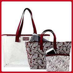 Jacki Design Mystique 3 Piece Tote Bag Set (Red) - Shoulder bags (*Amazon Partner-Link)
