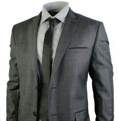 mens grey 2 button office wedding party smart suit. #clothing #fashion #suits #style #shopping #menswear #mensstyle