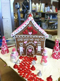 Valentine gingerbread house that I made.