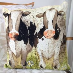 Curious Cows Cushion By Alex Clark - A Bentley Cushions Highland Cow Gifts, Cows, Moose Art, Presents, Cushions, Throw Pillows, Ideas, Gifts, Toss Pillows