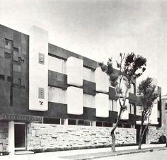 Edificio Soria, (dirección desconocida), México DF 1962  Arq. Ricardo de Robina -  Soria Building, (address unknown) Mexico City 1962