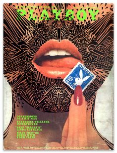 April 1973 Playboy Cover Art by Stinkfish