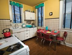 In Kristen and Paul Gubbins' vintage kitchen is a working 1961 Tappan Stove, which was from the home's previous owner.