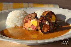 Španělský ptáček je oblíbené české jídlo připravované z hovězího masa. Navzdory jménu recept nepochází ze Španělska. Je to dušený závite... Beef, Food, Meat, Essen, Ox, Ground Beef, Yemek, Steak, Meals