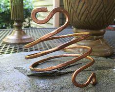 Triple wrap S coil bracelet by HammerandWire on Etsy