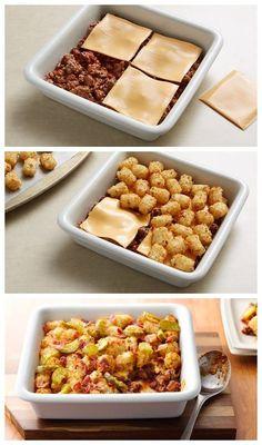 Bacon Cheeseburger Potato Casserole Recipe