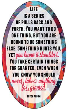 Life is a series of pulls back and forth