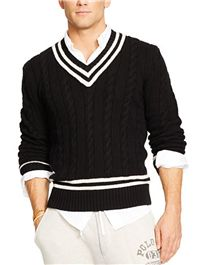 "Polo Ralph Lauren - Cotton-Blend Cricket Sweater: We love to incorporate some straightforward preppy into our wardrobes, especially in the spring where we can play with color and sporty ""club"" looks."