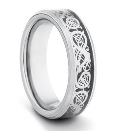 6MM Tungsten Carbide Ladies/Mens/Unisex Polished Comfort Fit Wedding Band Ring w/ Silver Asian Dragon Style Inlay (Available Sizes 4-11 Including Half Sizes) TWG Tungsten. $34.95. 60 Day Money Back Guarantee. Genuine Tungsten Carbide. Comfort Fit Design. BEWARE OF CHEAP IMITATIONS!!. Hypo-Allergenic