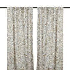 Neutral Jada Curtain Panel Set, 96 in. | Kirklands