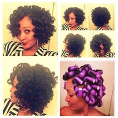 Check out this Flexi Rod video tutorial for relaxed hair and for those transitioning to natural hair. Flexi rods on natural hair makes a protective style, flexi rods on Relaxed Hair. Natural Hair Bob, Pelo Natural, Natural Hair Journey, Natural Hair Care, Natural Hair Styles, Love Hair, Gorgeous Hair, Curly Hair Styles, Pelo Afro