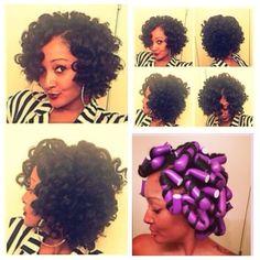 Pretty flexi rod set - http://www.blackhairinformation.com/community/hairstyle-gallery/natural-hairstyles/pretty-flexi-rod-set-2/ #naturalhairstyle