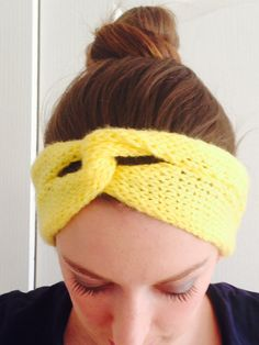 Perfrct to brighten up a winter/fall outfit. Winter Headbands, Bright Yellow, Fall Outfits, Knitting Patterns, Etsy Shop, Trending Outfits, Crochet, Handmade Gifts, Inspiration