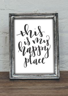 This is My Happy Place Instant Download Printable Poster by MiniPress on Etsy