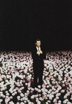 """I llllllove Pina Bausch's dance performance """"Nelken"""" (modern ballet)!!! PETER PABST  STAGE SET FOR PINA BAUSCHS NELKEN (CARNATIONS), 1982"""