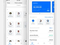 Banking app - Home screen homescreen ios banking bank finance send money card transactions contacts cards financial Design Ios, Mobile Ui Design, Page Design, Graphic Design, App Home Screen, Card Ui, Finance, App Design Inspiration, Web Layout