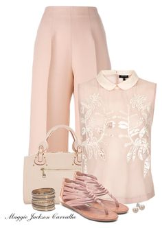 """Pink"" by maggie-jackson-carvalho ❤ liked on Polyvore featuring Fendi, Paris Hilton, Topshop, Lucky Brand, Bridge Jewelry and H&M"