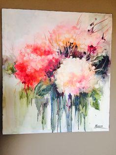 Silk Painting, Acrylic Art, Contemporary Paintings, Art Inspo, Flower Art, Watercolor Paintings, Original Artwork, Abstract Art, Creations