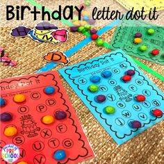 Birthday theme activities and centers preschool, pre-k, and kinder students will LOVE! Birthday Letters, Birthday Book, Dinosaur Birthday, All About Me Activities, Hands On Activities, Activity Centers, Literacy Centers, Activity Ideas, Lesson Plan Binder