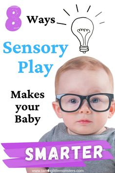 Have you heard of sensory play for kids? Did you know that there are 8 amazing ways that your children can benefit from this play idea? Learn how sensory play can help your baby, toddler and preschooler learn about math, fine motor skills, language and more.    #sensory #baby #toddler #preschool