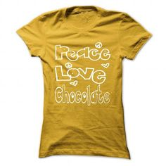 Limited Edition Peace. Love. Chocolate... - #gift card #thank you gift. MORE INFO => https://www.sunfrog.com/Pets/Limited-Edition-Peace-Love-Chocolate-Yellow-26800744-Ladies.html?68278