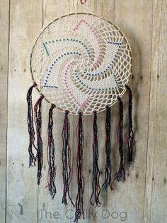 Beaded Star Dreamcatcher Crochet Pattern: mixed media for yarn lovers